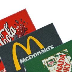 Tapetes de goma con logotipo